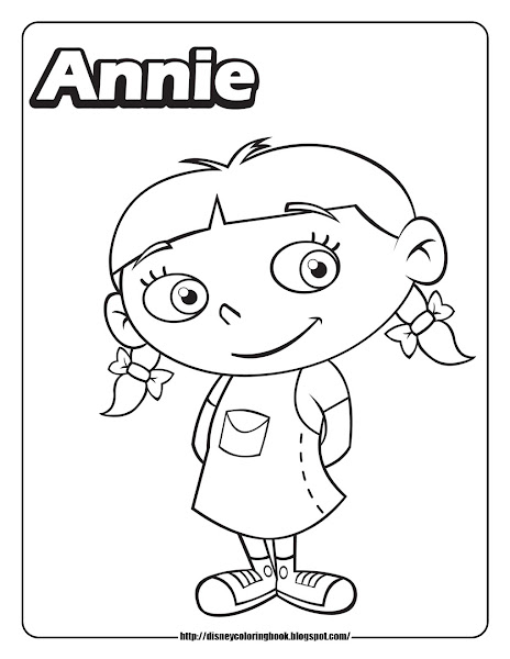 Annie Little Einsteins Coloring Page