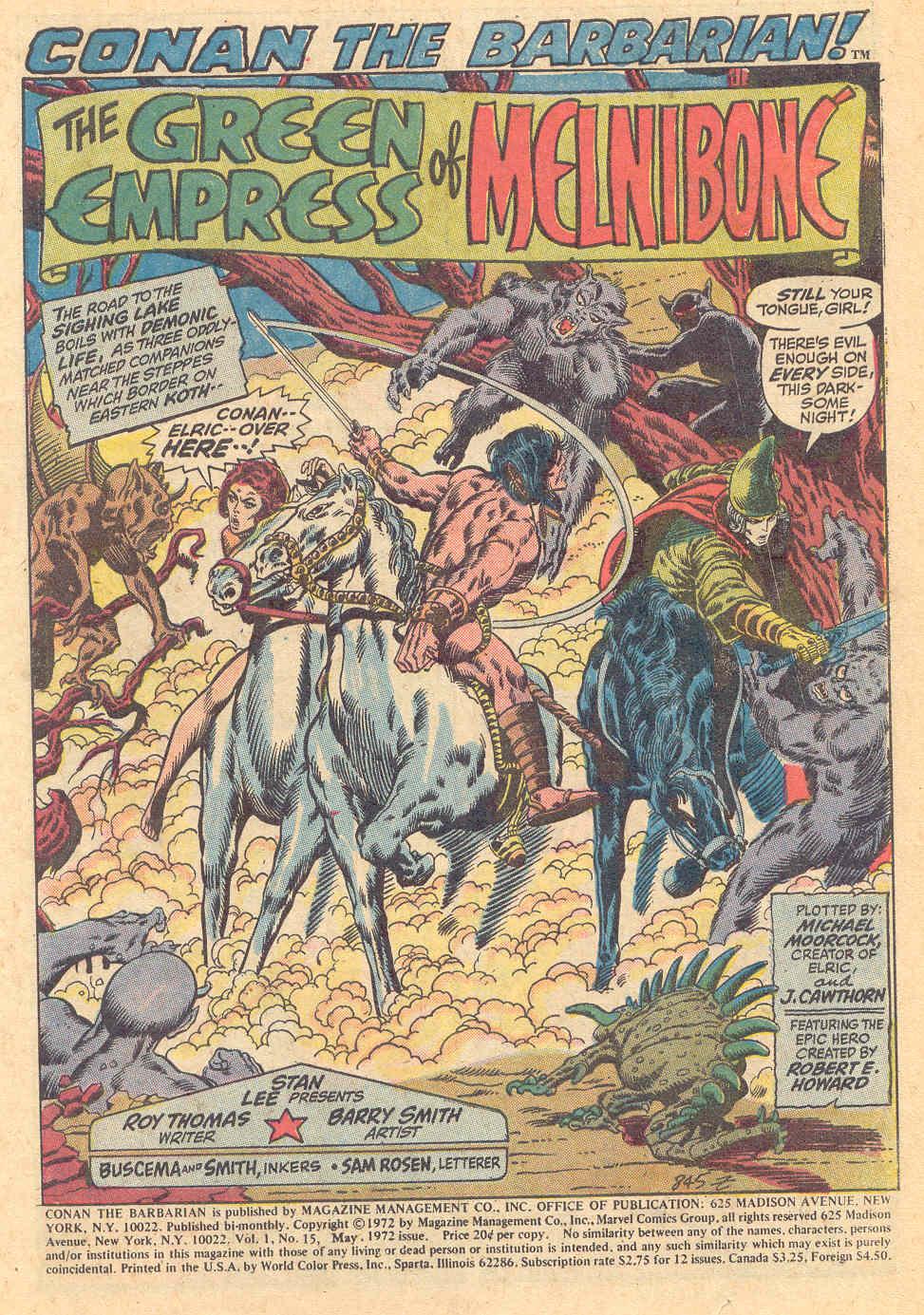 Conan the Barbarian (1970) Issue #15 #27 - English 2