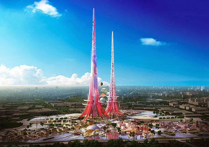 Firma UK rancang bina Menara Tertinggi di dunia di China