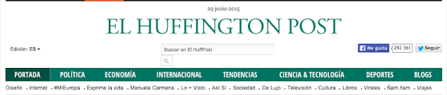 Captura de la cabecera del Huffington Post