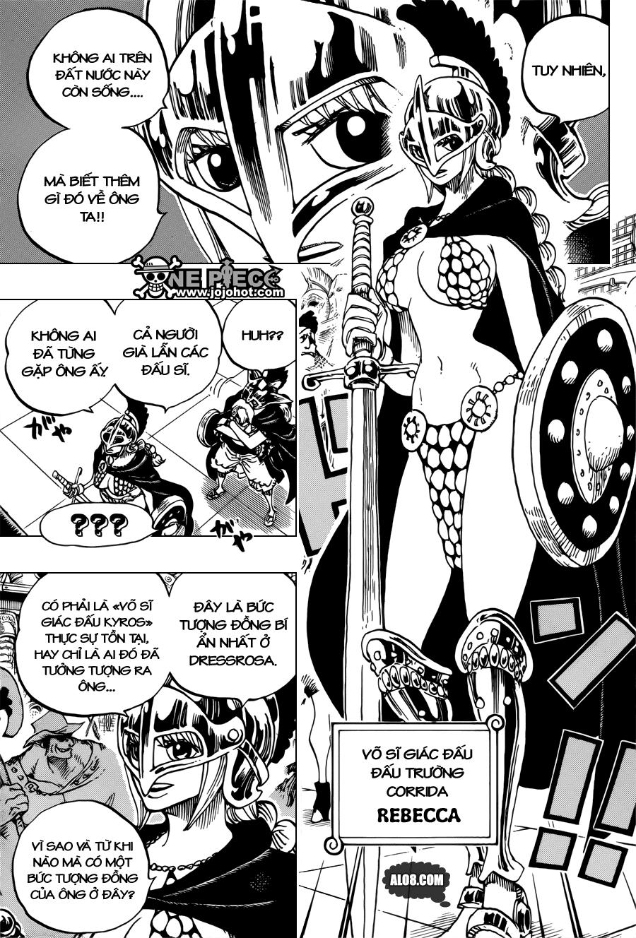 One Piece Chapter 704: Lucy và bức tượng của Kyros 015
