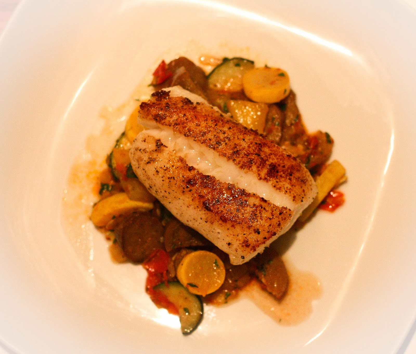 The Effervescent Oenophile: Ratatouille with Pan Seared Atlantic Cod