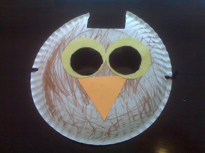 Wednesday February 16 2011 & The Best Me: Paper Plate Owl Mask