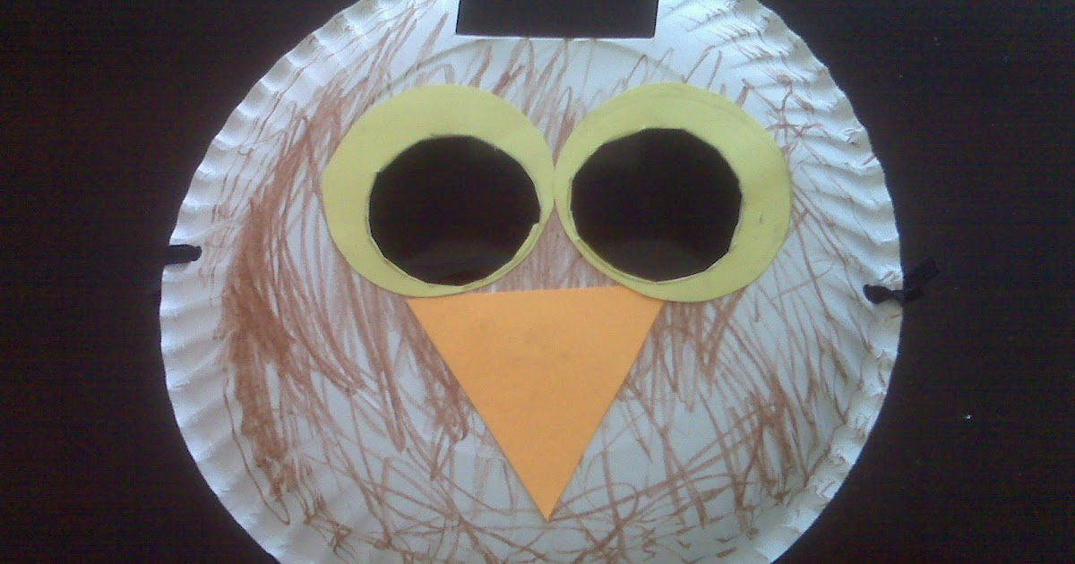 & The Best Me: Paper Plate Owl Mask