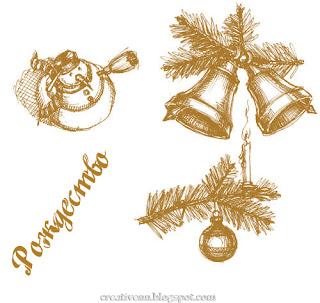 Рождественские новогодние картинки.