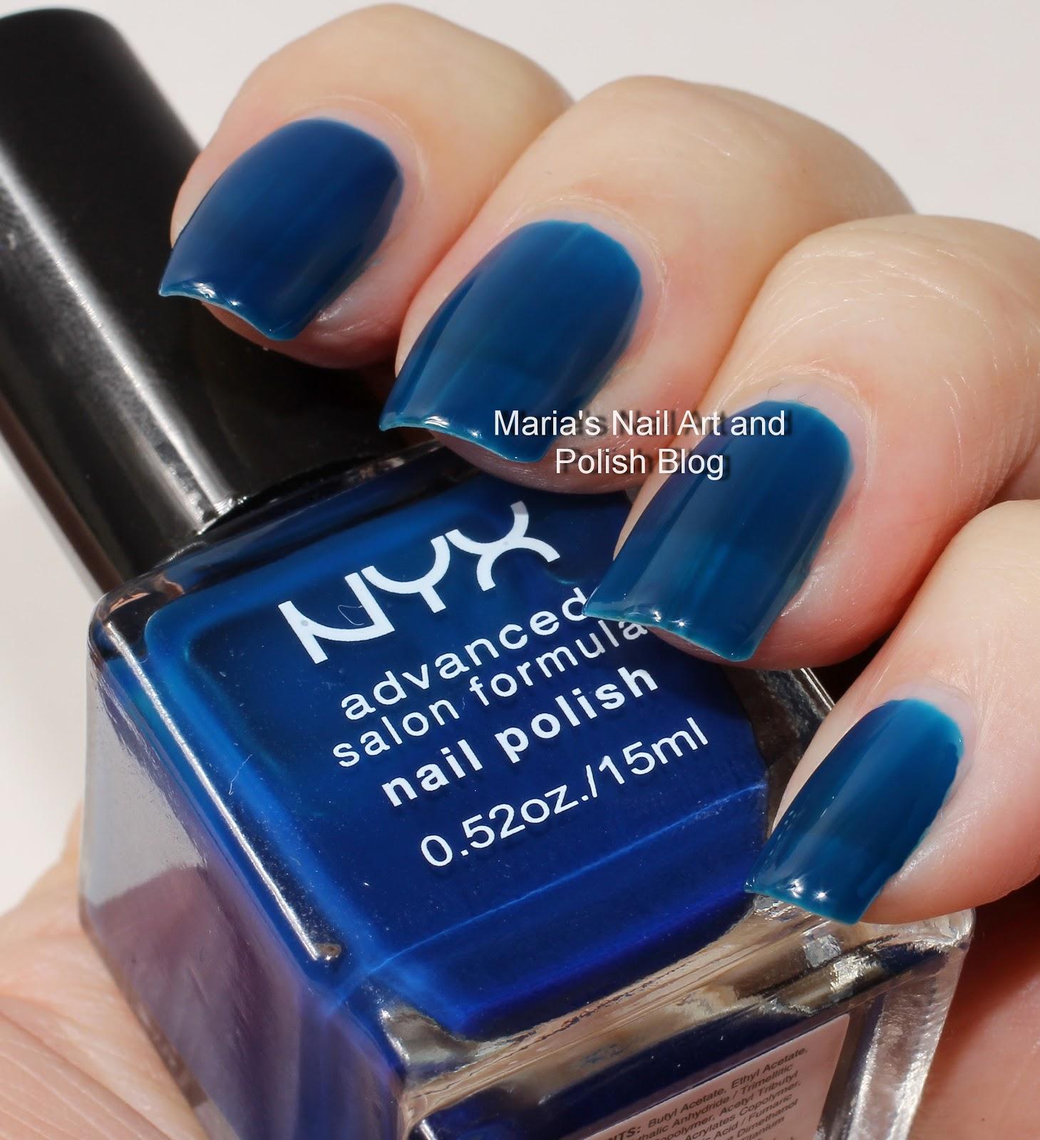 Marias Nail Art and Polish Blog: NYX Salon Formula: Ink and Pastel ...