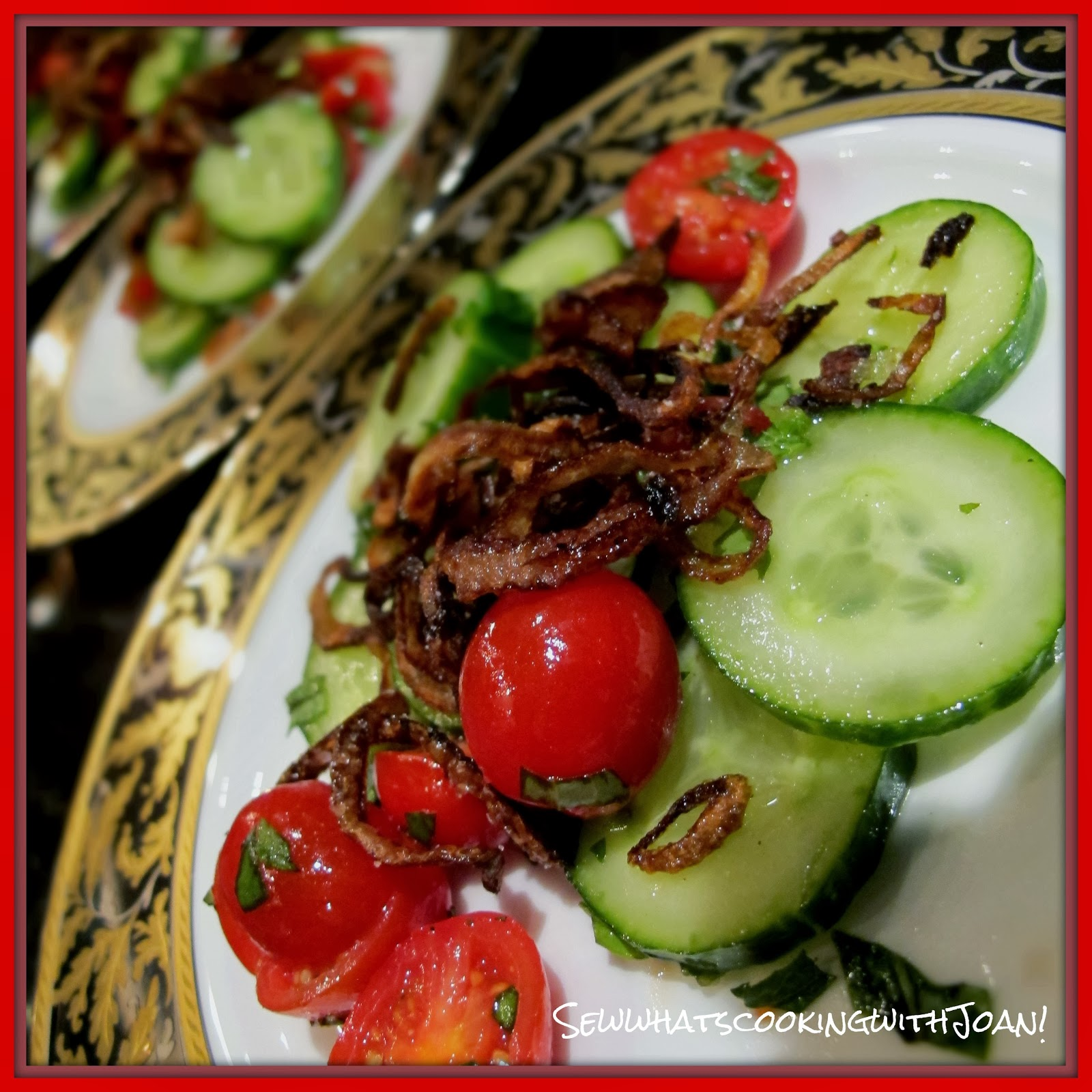 ... what's cooking with Joan!: Cucumber salad with caramelized shallots
