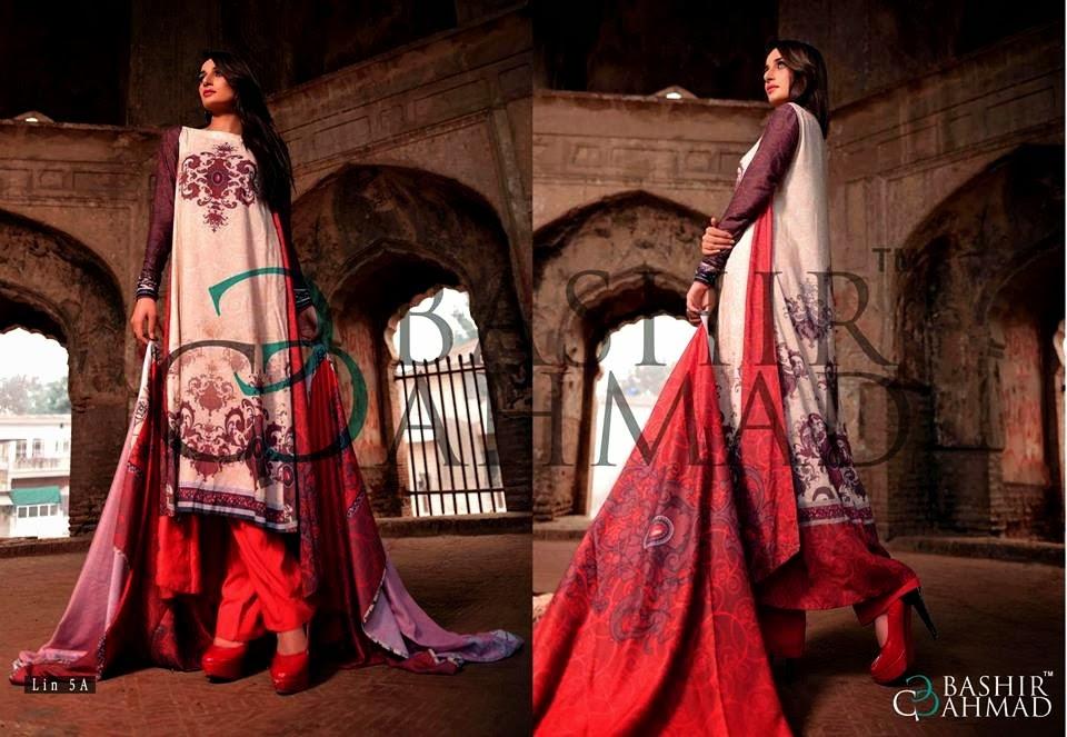 BashirAhmedLinen2013 14 wwwfashionhuntworldblogspotcom 025 - Bashir Ahmed Linen Dresses 2013 / 2014