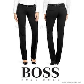 Queen Letizia style HUGO BOSS Taru Trousers