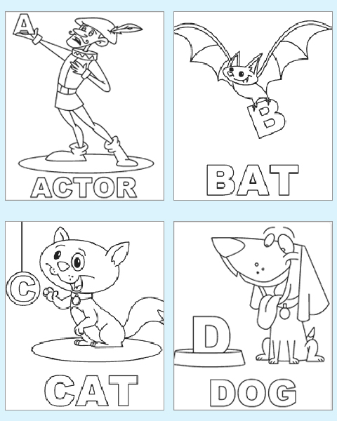 coloring pages alphabet preschool worksheets-#1