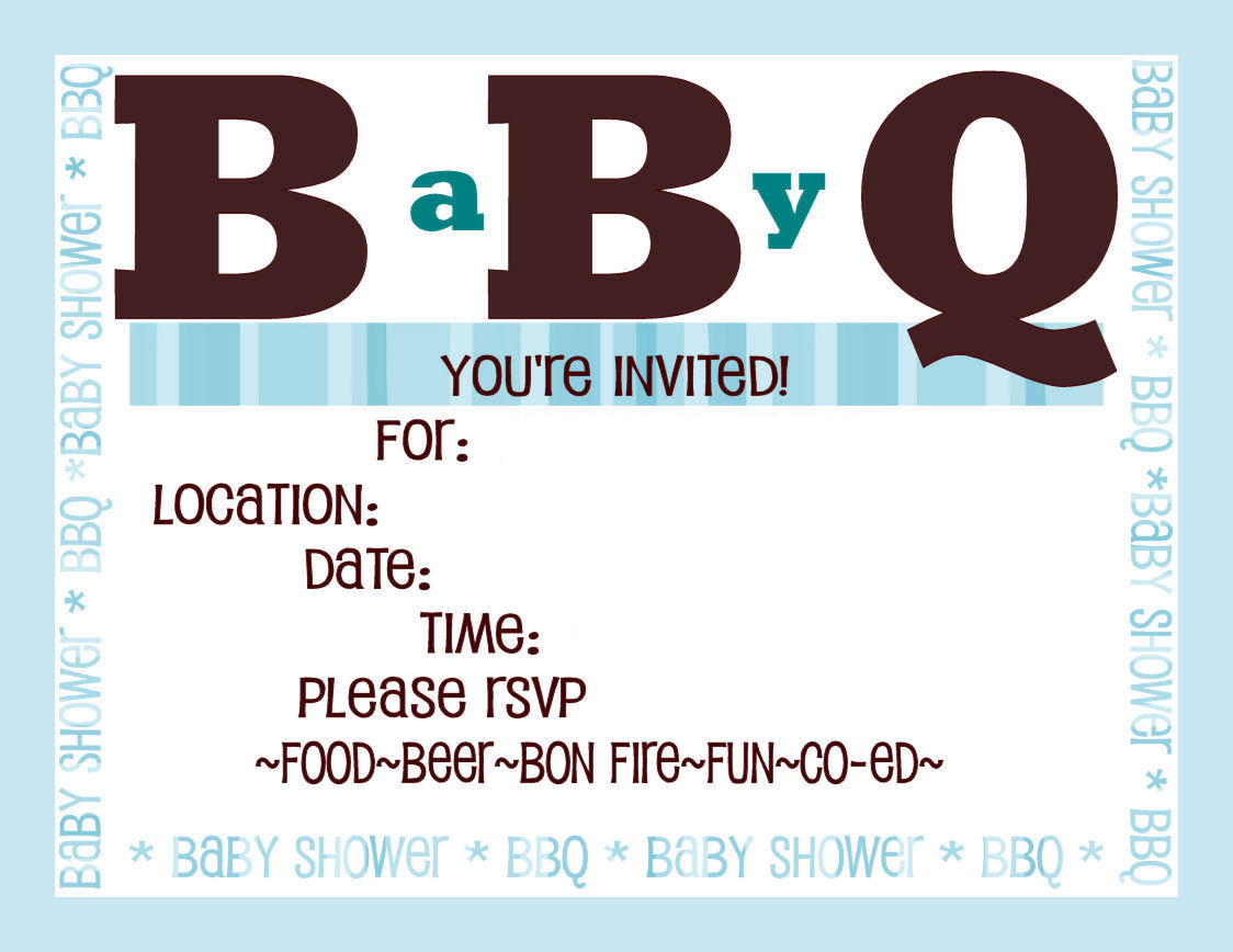 BBQ/Baby Shower Invitations - DIY Show Off ™ - DIY Decorating and ...