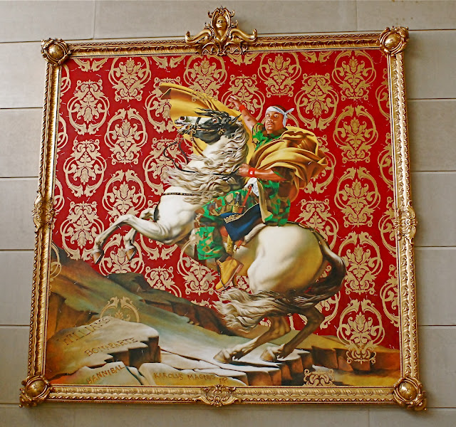 Kehinde Wiley S Painting Napoleon Leading The Army Over The Alps