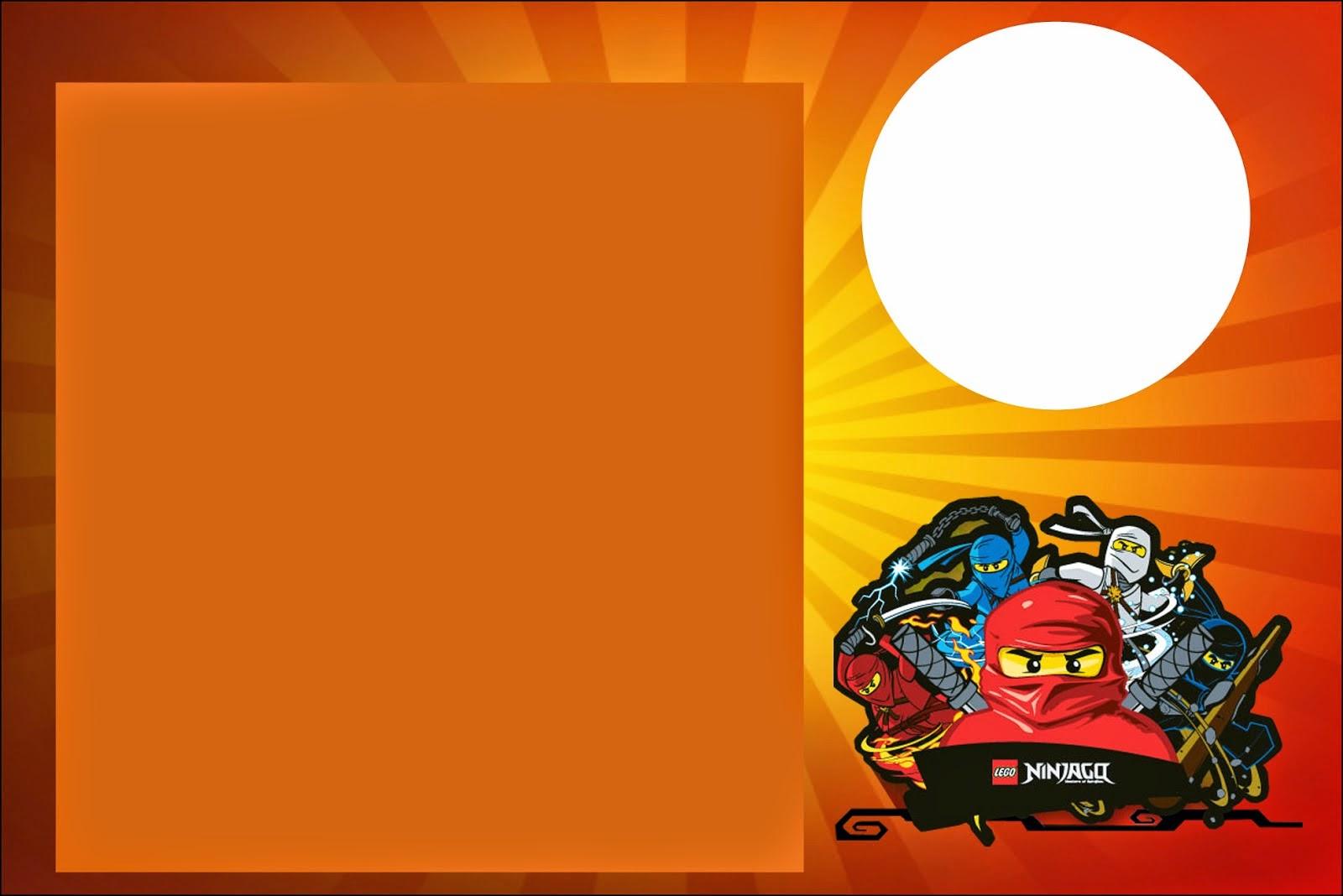 Ninjago: invitaciones, tarjetas y marcos para imprimir gratis. | Oh My Fiesta! Friki