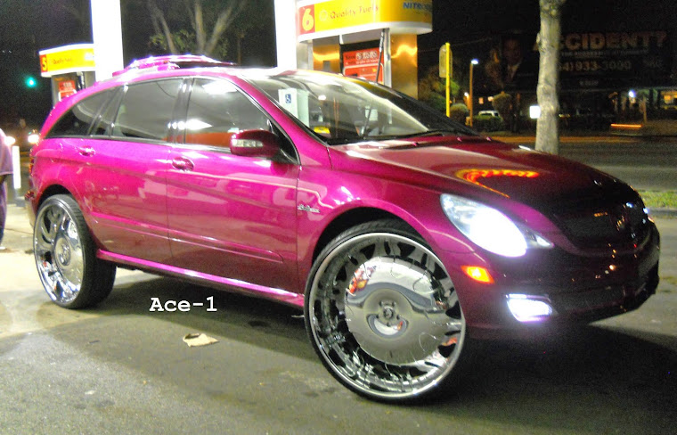 "Candy Pink Mercedes-Benz R63 AMG on 30"" Grassetto Forgiato"