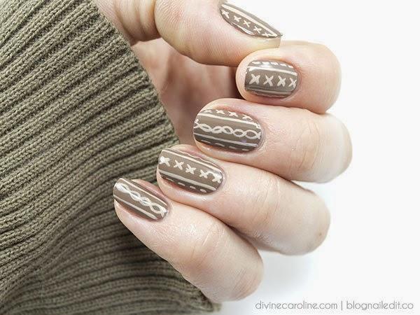 Nail art a tema knitting