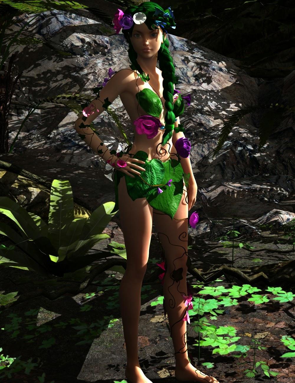 3d Models - Dryade for Genesis 2 Female(s)