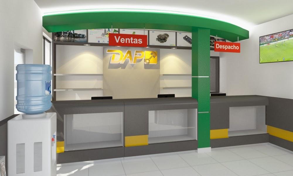 Dise o showroom de empresa disel autopartes del peru for Diseno de interiores locales comerciales