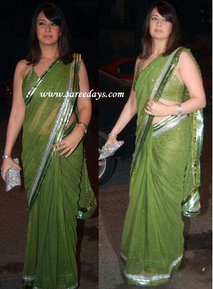 Latest saree designs preeti jhangiani in designer green saree at preeti jhangiani in designer green saree at ekta kapoor diwali bash altavistaventures Images