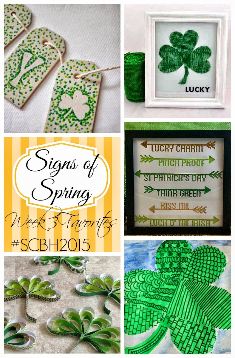 Signs of Spring #3: St. Patrick's Day Favorites. Check out this round-up of projects from the Spring Craft Blog Hop 2015