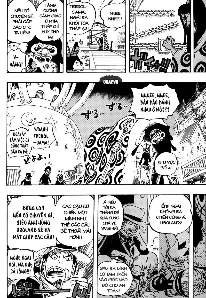 One Piece Chapter 738: Binh đoàn Trebol: Chỉ huy đặc biệt Sugar 009
