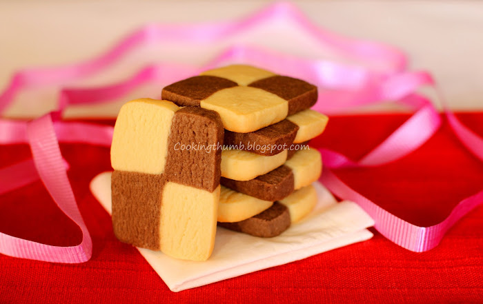 Eggless Checkerboard Cookies