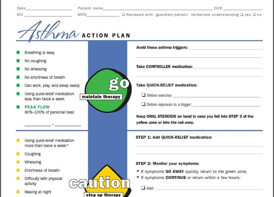 My Life As An Asthma Mom: Asthma Action Plans