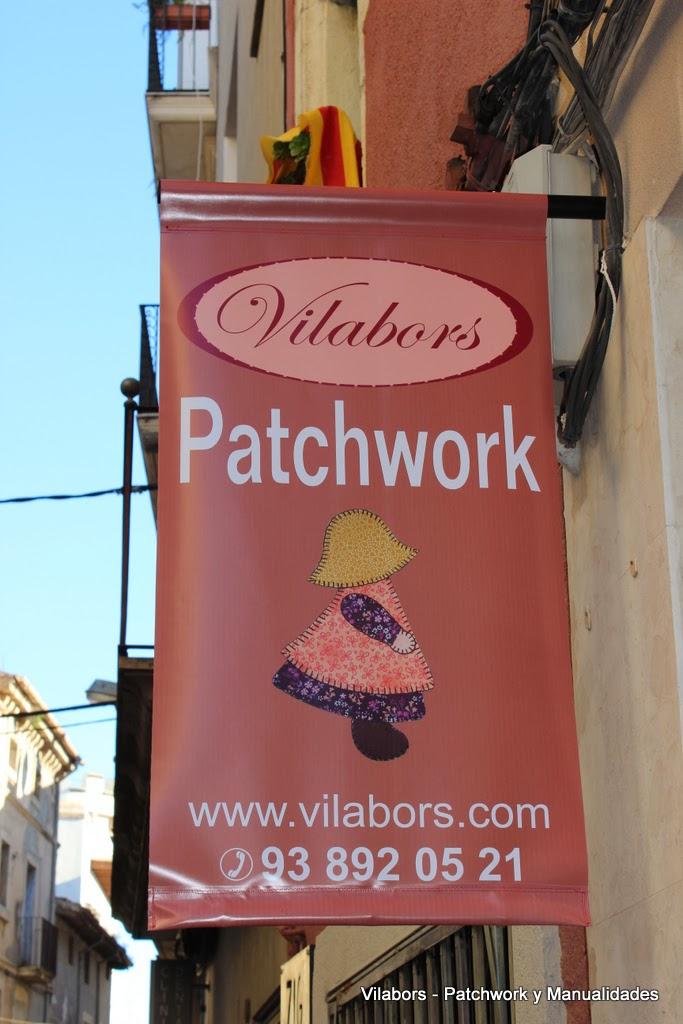 Banderola Vilabors, Patchwork y Manualidades