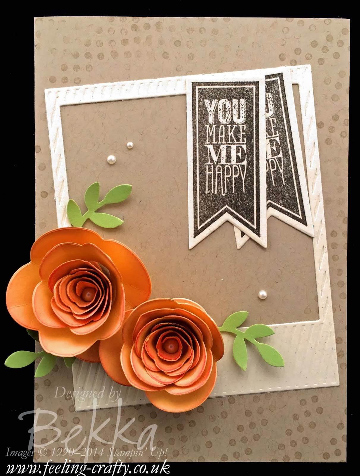 Perfect Pennants and Spiral Flowers card that was inspired by some beautiful flowers - check it out here