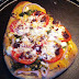 Homemade Vegetarian Hummus Pizza