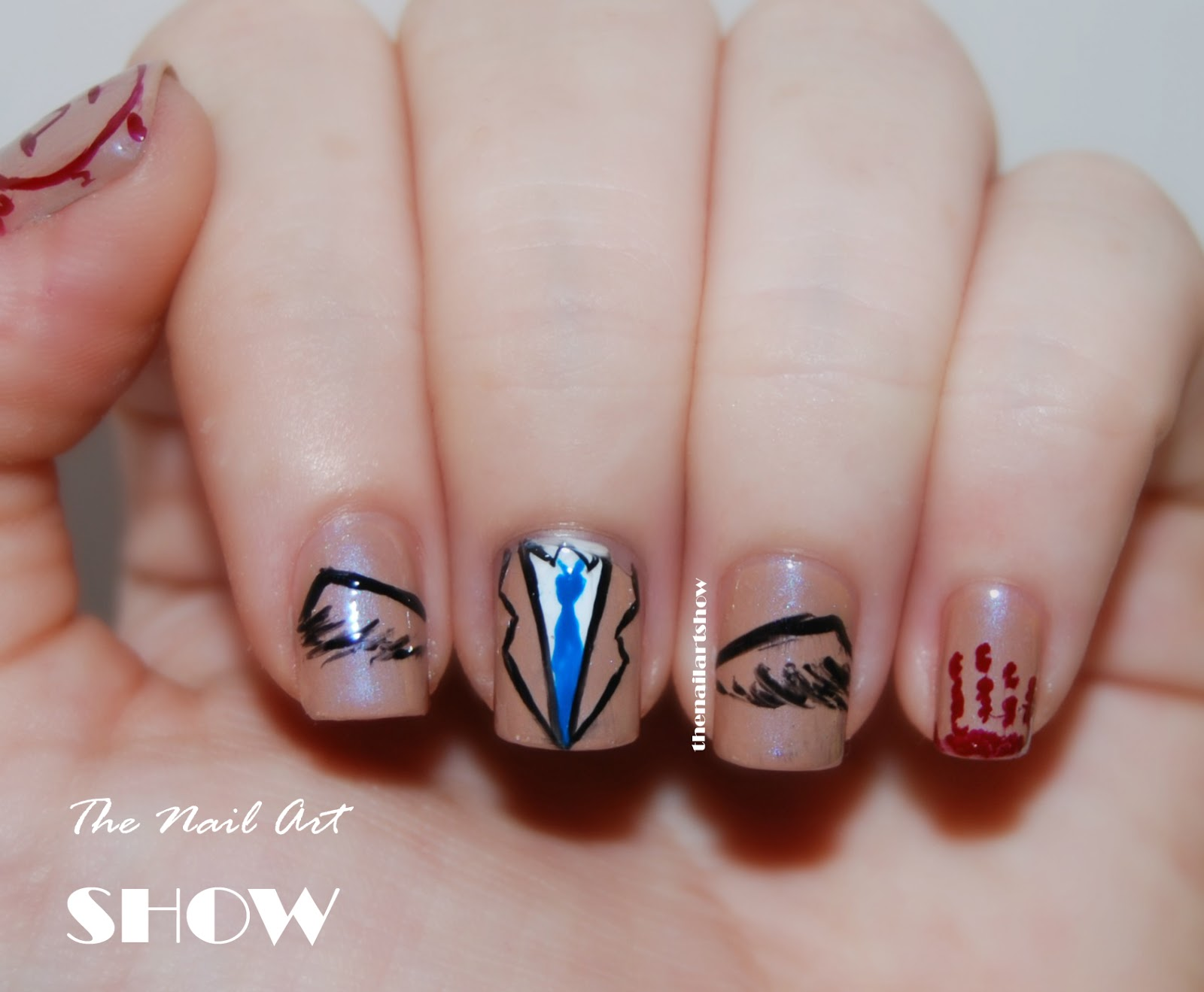 I\'m Castiel an angel of the Lord | The Nail Art Show