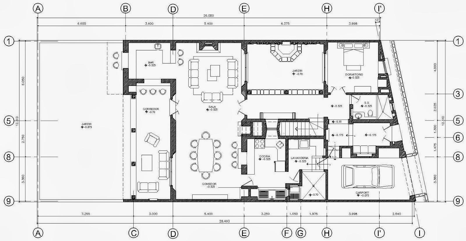Planos en 2d autocad 2013 programacion estructurada for Programa planos 2d