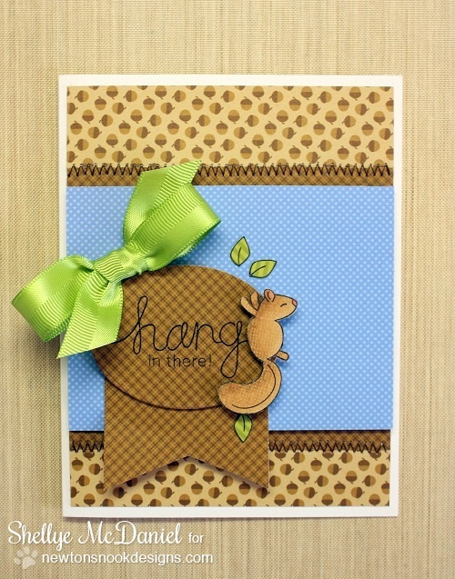 Hang in there card by Shellye McDaniel for Newton's Nook Designs | Hanging Around Stamp set