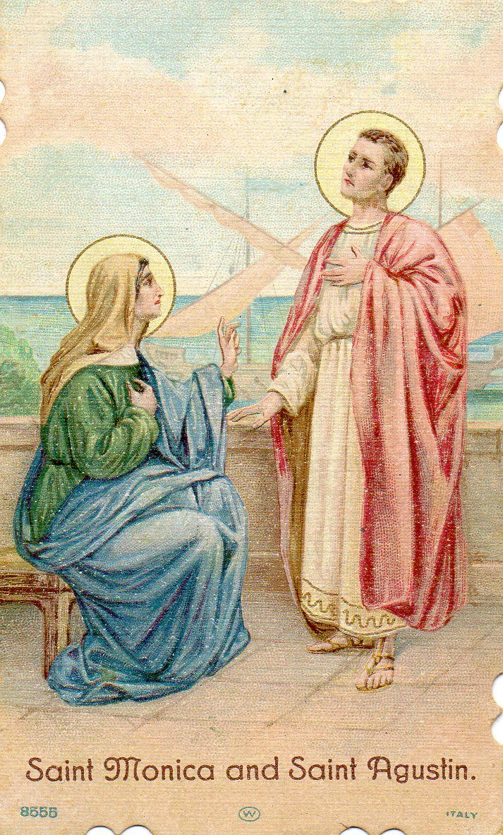 Saint Monica and Saint Rita, patron saints of wives and mothers pray for us.