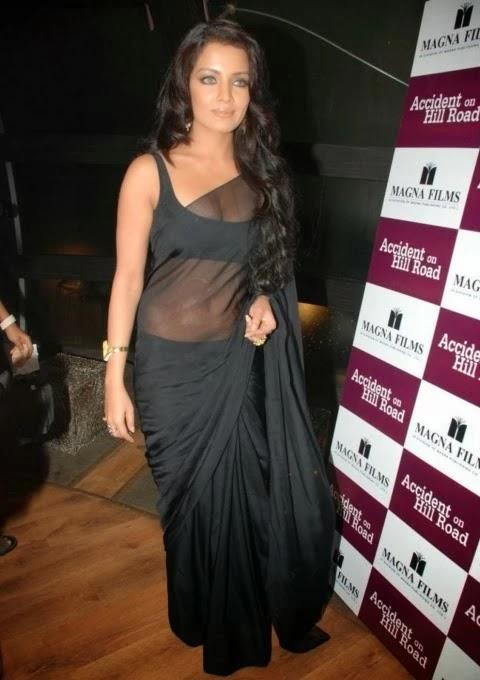 Actress Transparent Dress