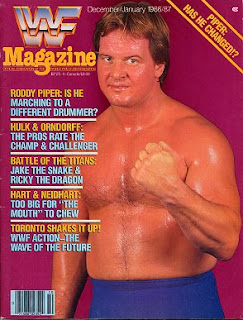 WWF Magazine: 'Roddy Piper: is he marching to a different drummer?'