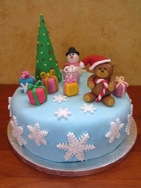 tarta navidad fondant