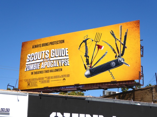 Scouts Guide to the Zombie Apocalypse film billboard