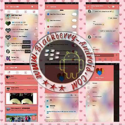 Ubdate BBM Mod Tema Pink Love Story Terbaru v2.10.0.31 Apk