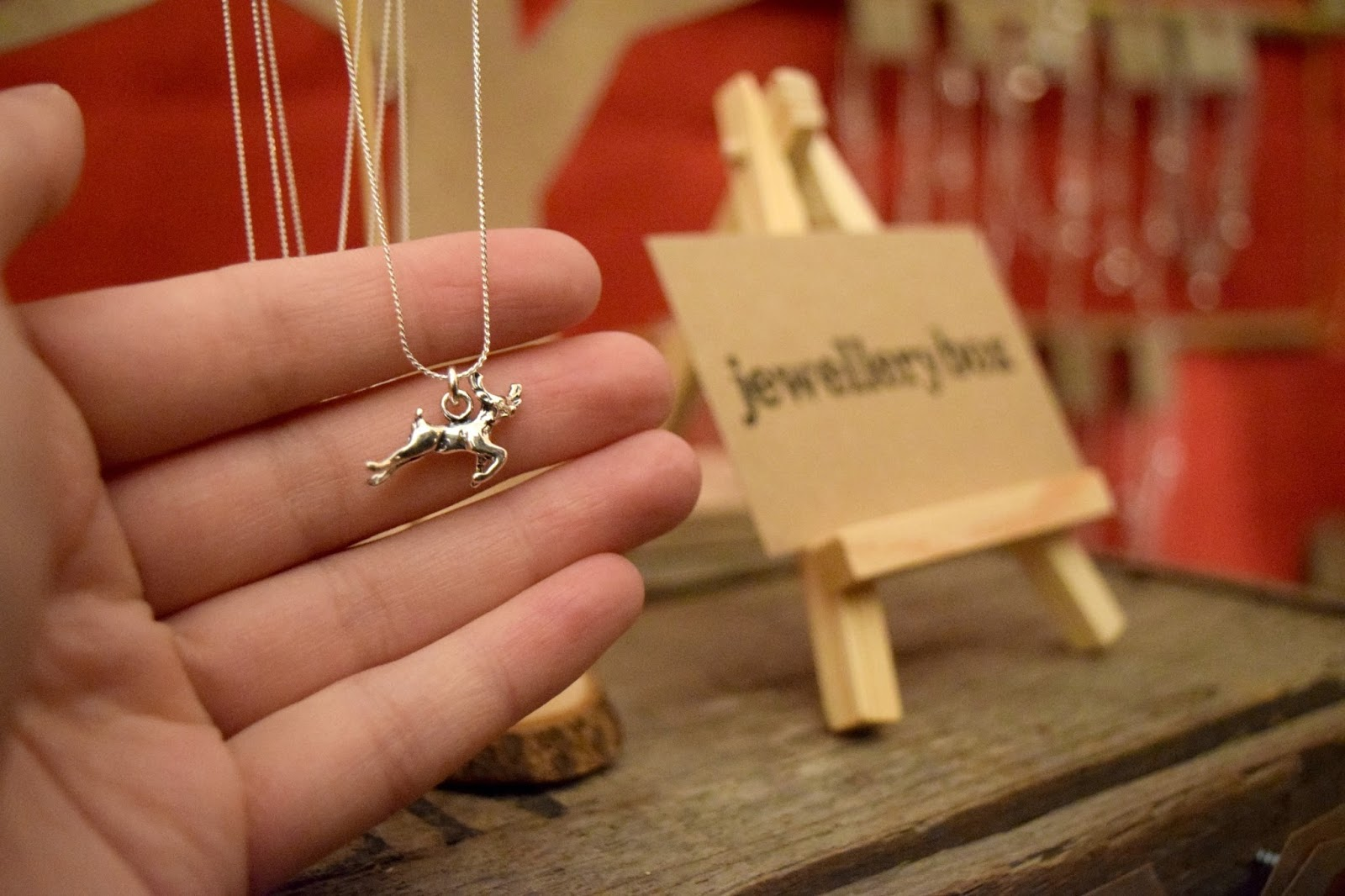 Reindeer Necklace JewelleryBox