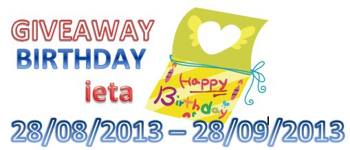 GIVEAWAY BIRTHDAY ieta, MINI GIVEAWAY