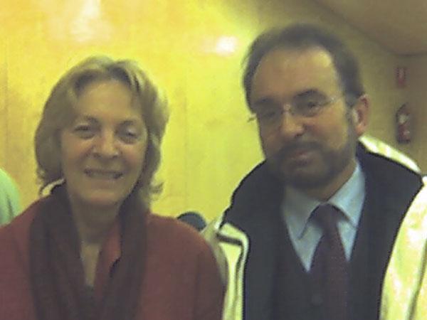 Con la escritora Soledad Puertolas.