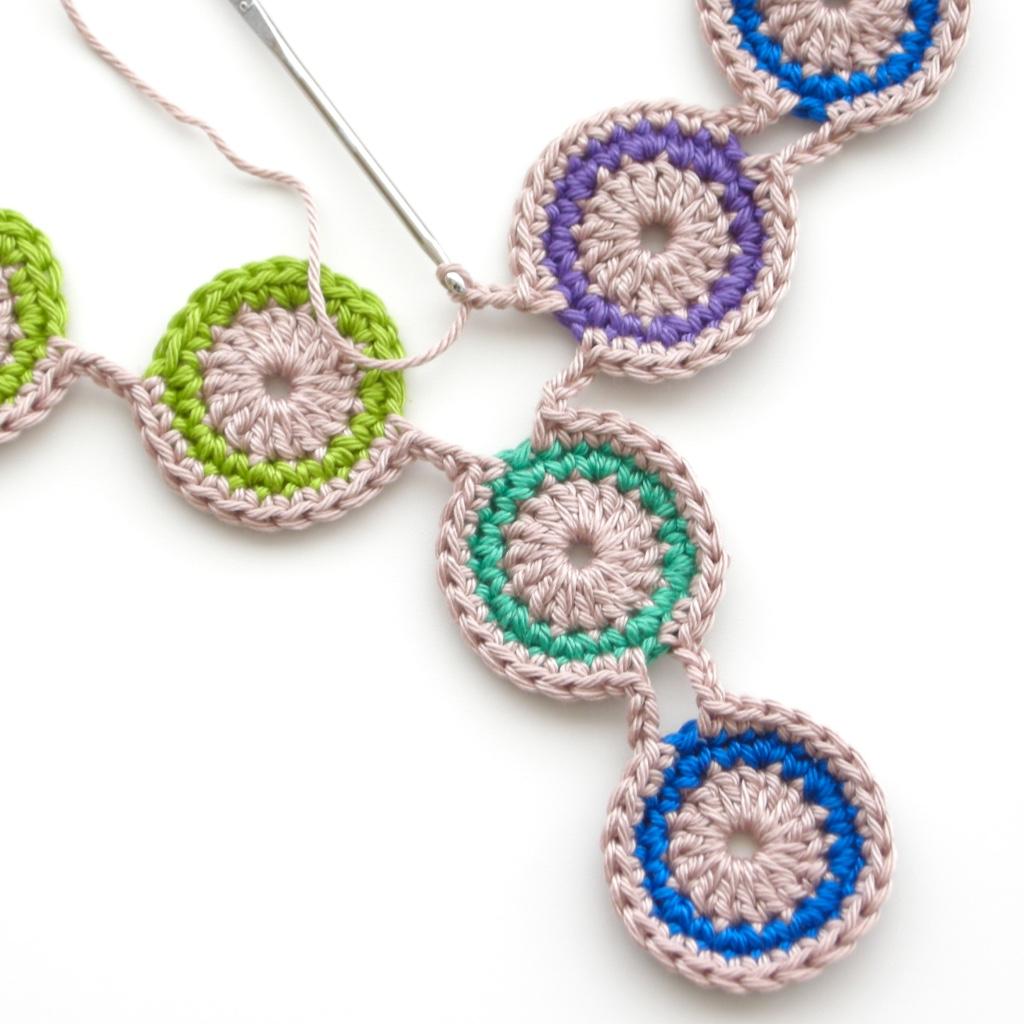 Free Crochet Pattern: Peacock Eye Necklace ...
