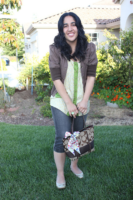 Juicy Couture Tank Coach Bag Outfit