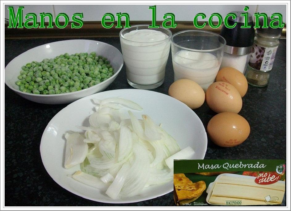 Manos en la cocina quiche de guisantes y cebolla - Nata para cocinar mercadona ...
