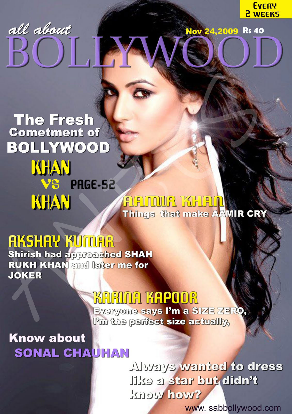 Bollywood Magazines Cover