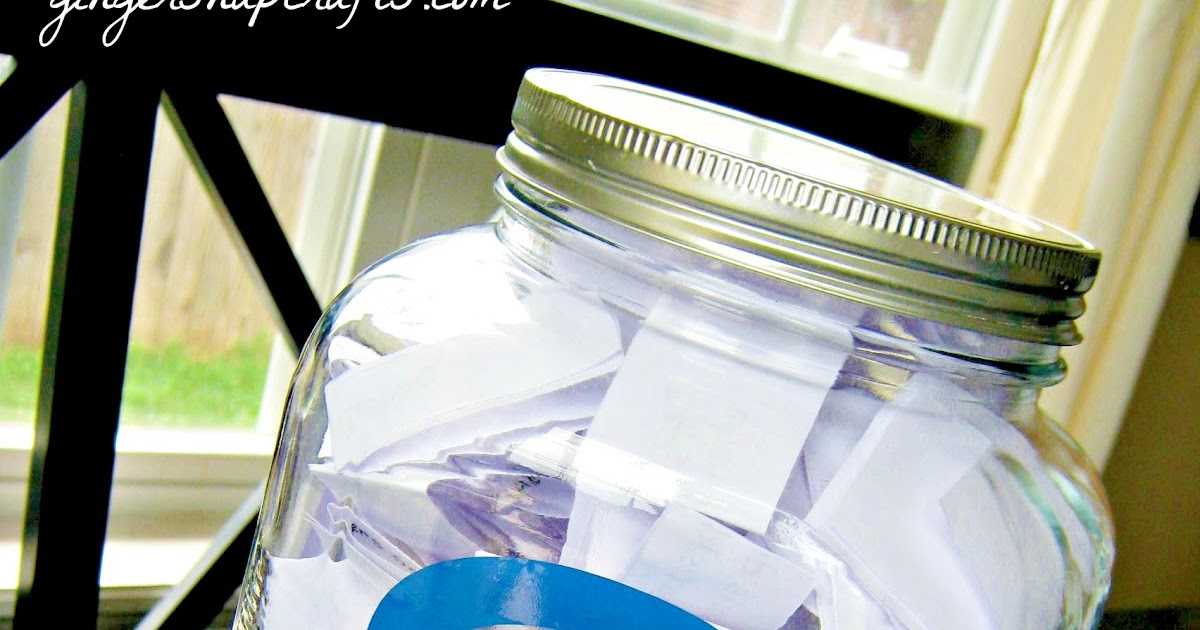 Ginger Snap Crafts Family Question Jar Tutorial
