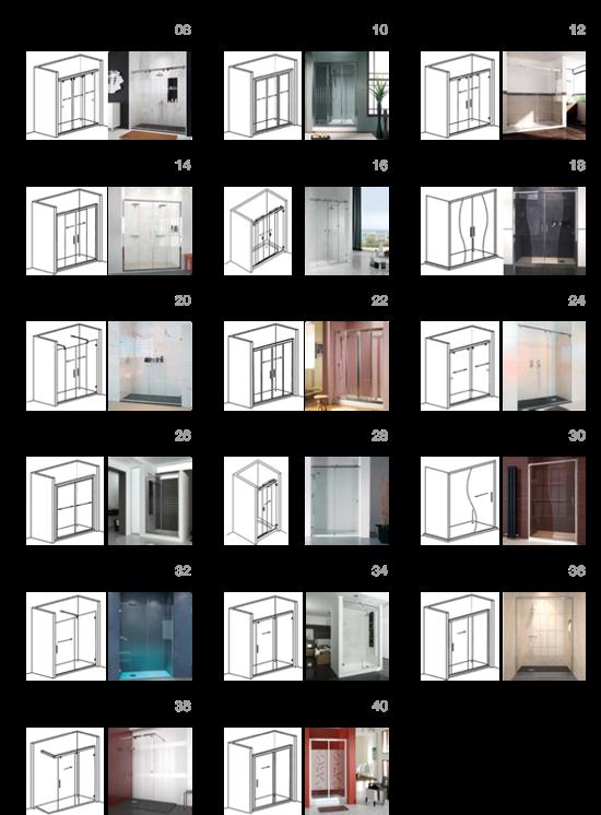 Perfil de aluminio para puertas de ba o for Perfiles de aluminio catalogo