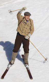 Didier Cuche na poslednú jazdu použil historické lyže