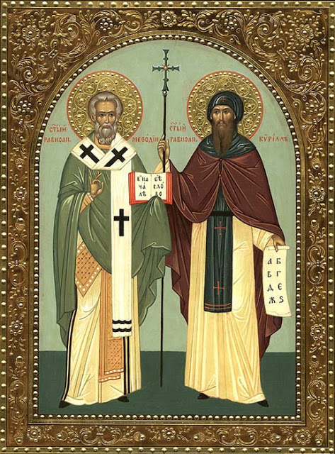 February 14 - Saints Cyril, Monk and Methodius, Bishop