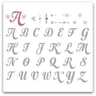Stampin' Up! Merry Monogram Stamp Brush Set